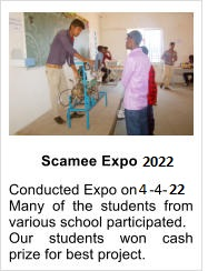Scamee Expo 2017 Conducted Expo on 2-4-17 Many of the students from various school participated. Our students won cash prize for best project.